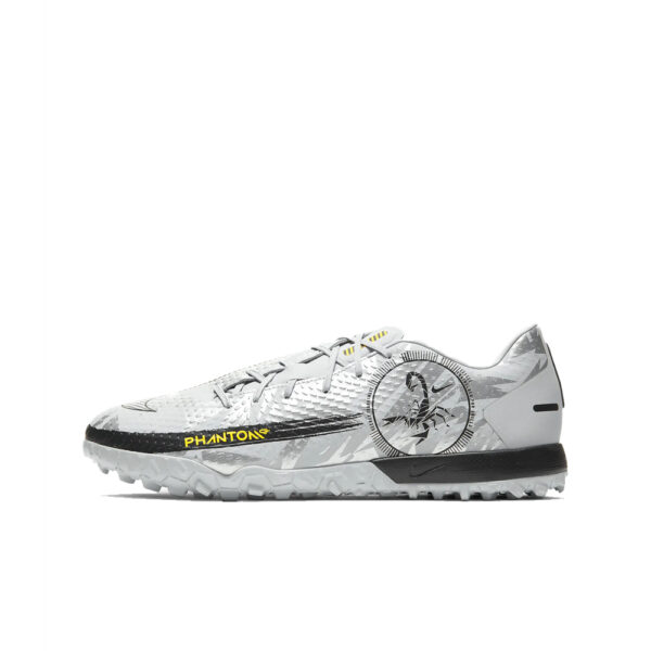 Nike Phantom GT Scorpion Academy TF - Pure Platinum/Black/Speed Yellow/Metallic Silver image 1 | DA2262-001 | Global Soccerstore