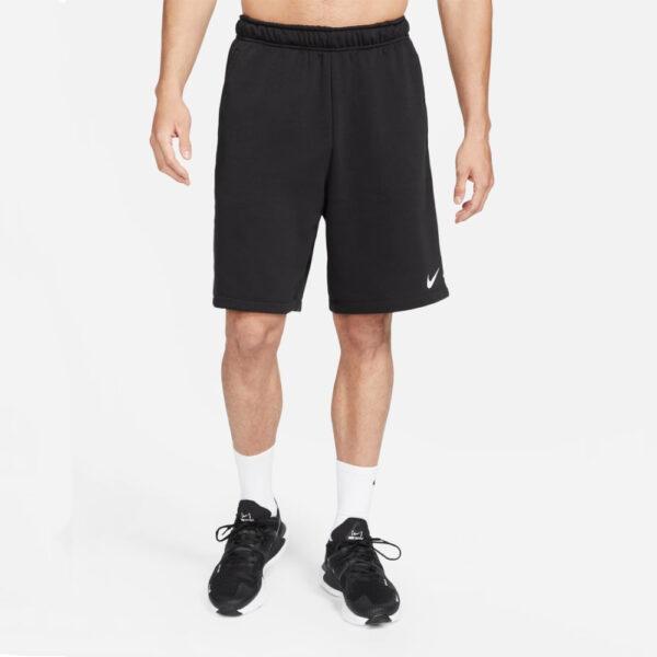 Nike Dri Fit Fleece Shorts - Black/(White) image 1 | DA5556-010 | Global Soccerstore