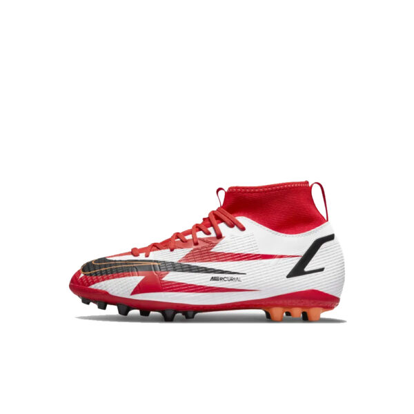 Jr Nike Mercurial Superfly 8 CR7 Academy AG - Chile Red/Black/White/Total Orange image 1 | DB2674-600 | Global Soccerstore