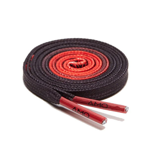 AMO Performance Grip Lace 2.0 - 130cm - Fiery Red / Jet Black image 1 | GRIPLACE2XLWG | Global Soccerstore