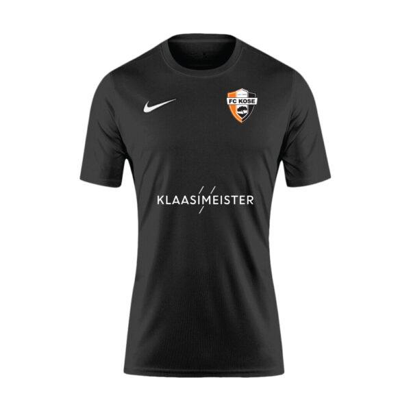 FC Kose esindusmeeskonna must võistlussärk / Võõrsilvorm (Täiskasvanute suurused) image 1 | KOSEES-BV6708-010 | Global Soccerstore